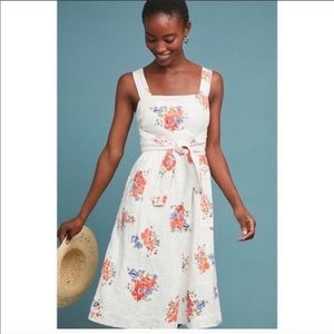 Anthropologie Meadow Rue White Floral Sundress